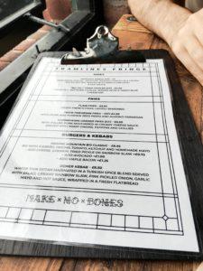 Tramlines menu