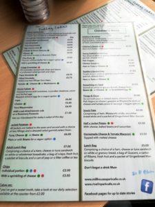 Millhouses menu