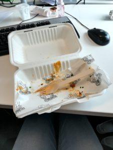 Empty sandwich box