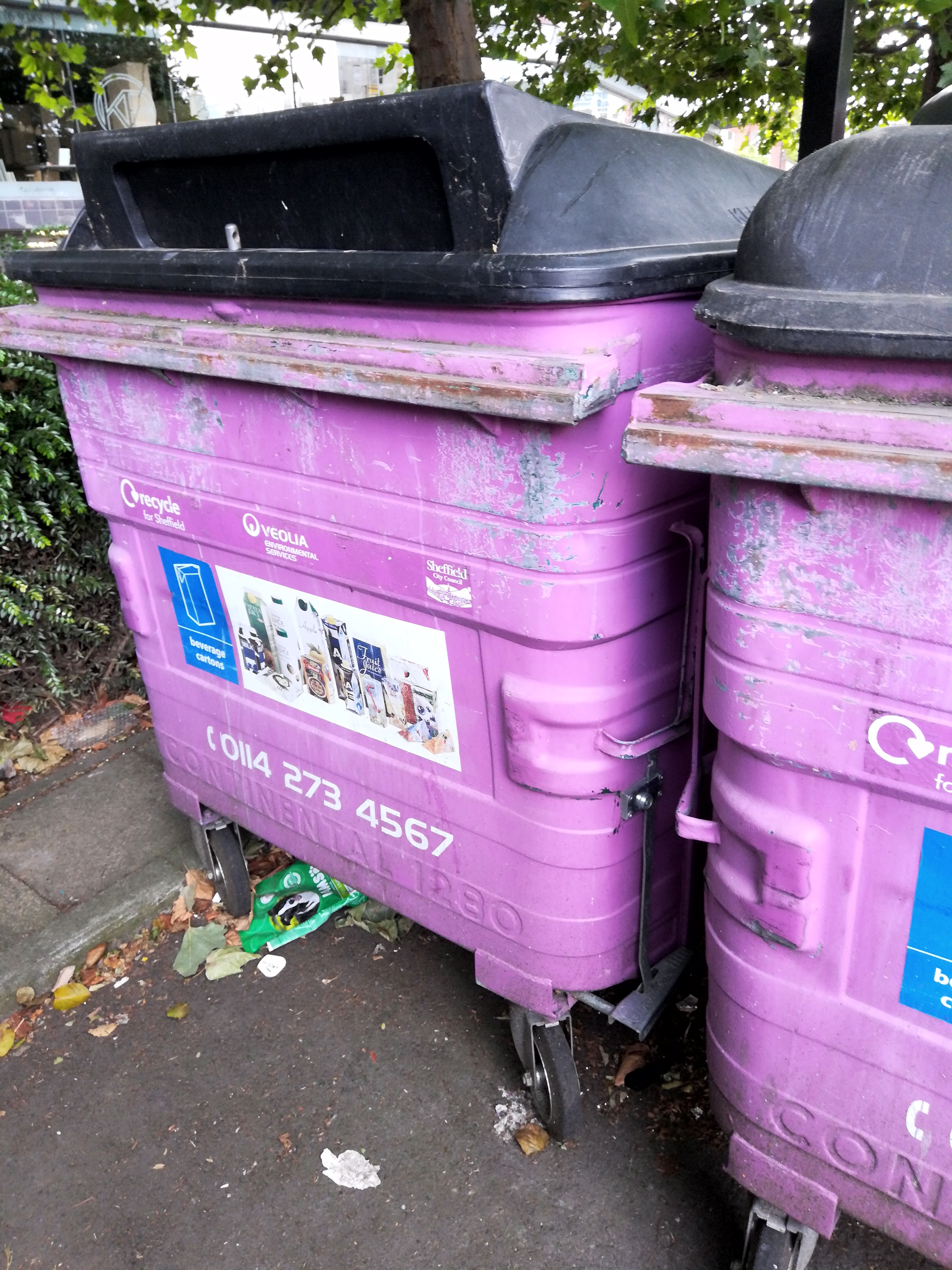Tetra Pak recycling bins