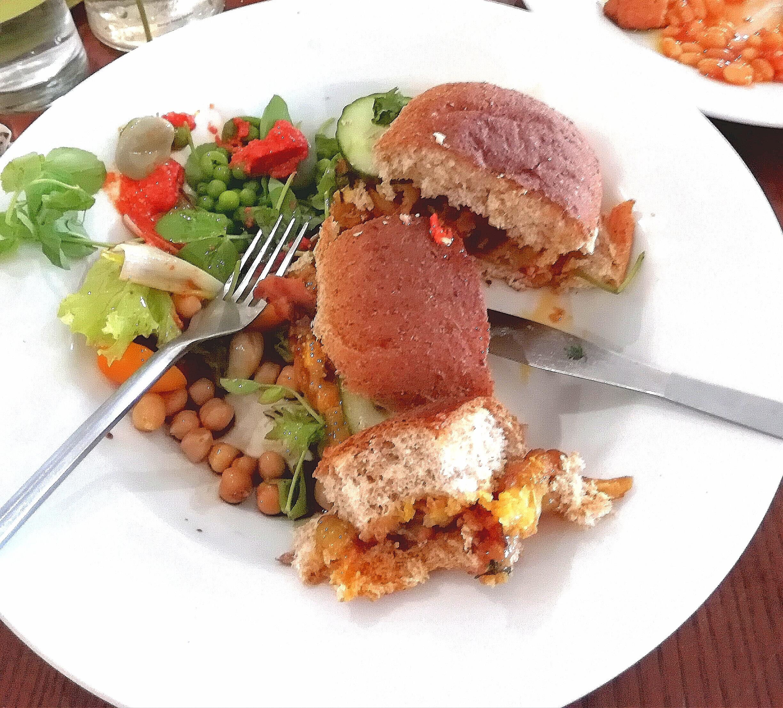 Bhaji burger