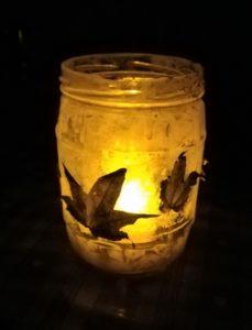 DIY autumn lantern