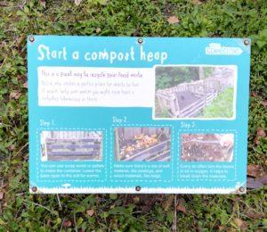 Compost heap sign