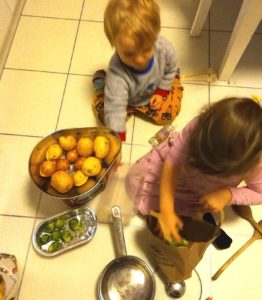 Kids with sprouts