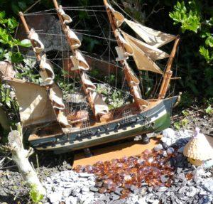 Fairy garden boat