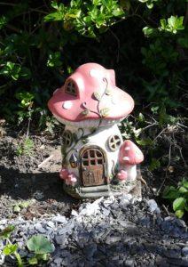 Resin fairy house