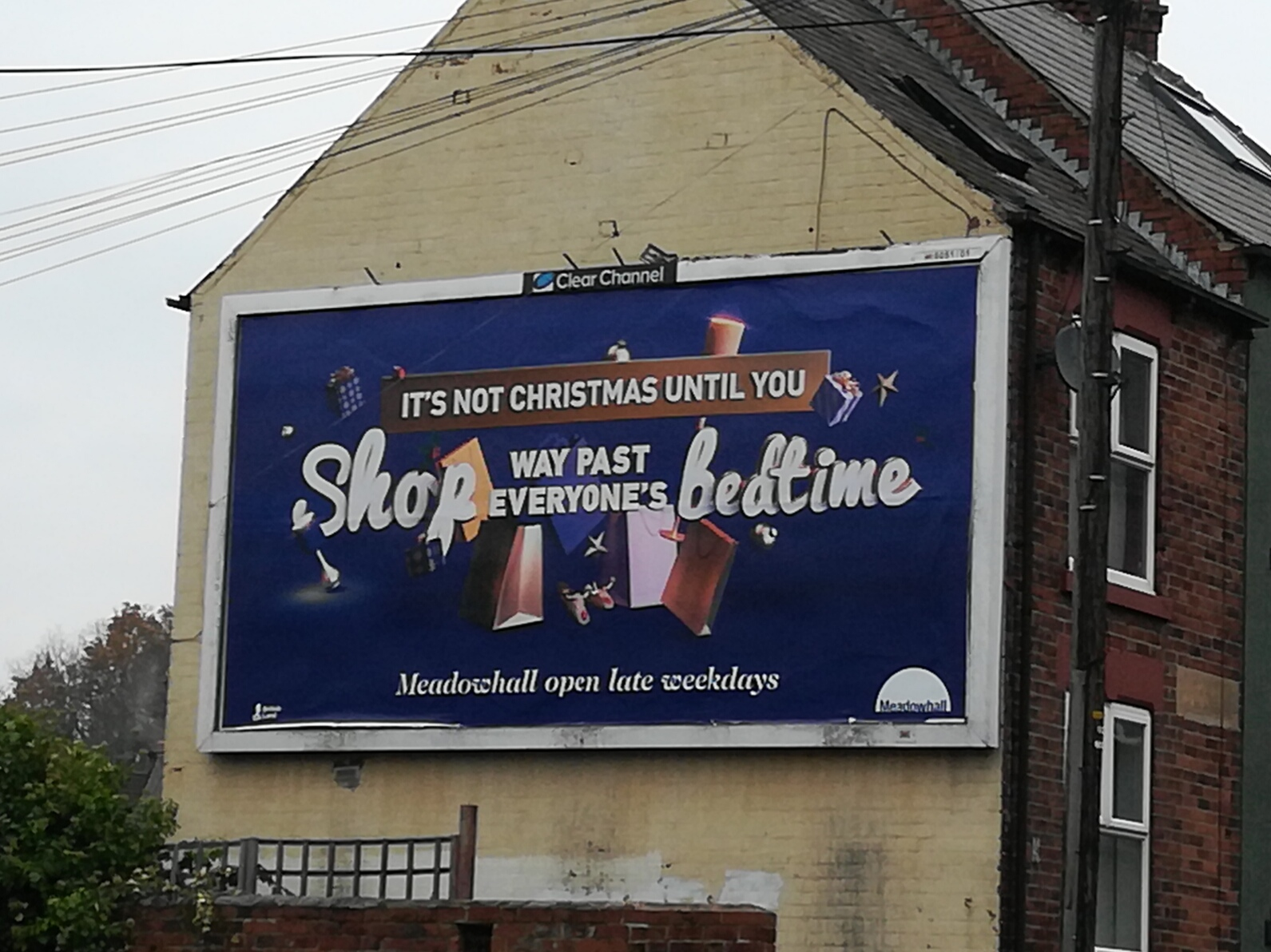 Christmas shopping billboard